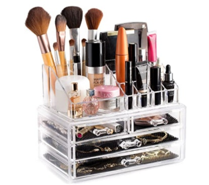 Masirs Clear Cosmetic Storage Organizer