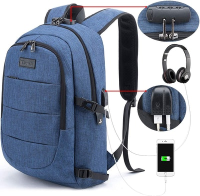 Tzowla Anti-Theft Laptop Backpack