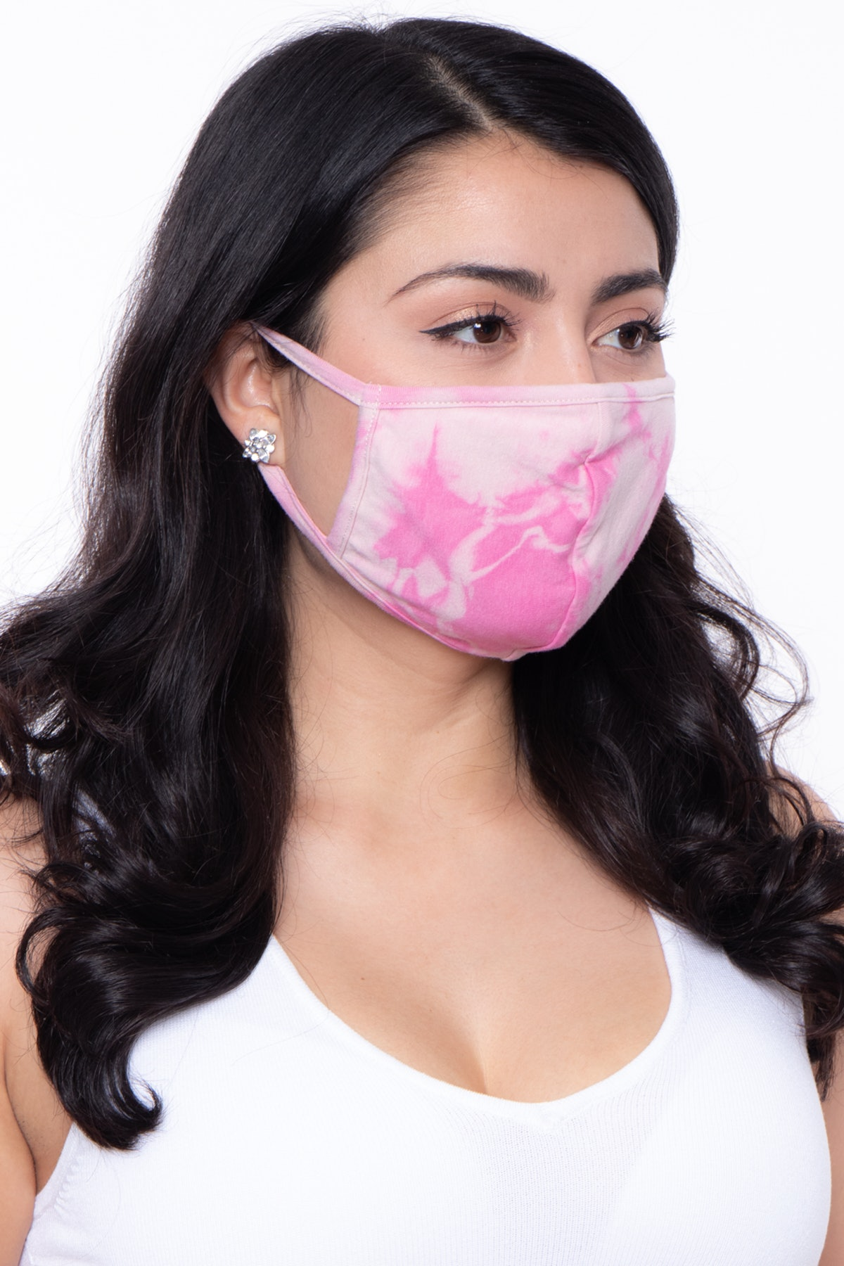Curvy Sense Washable and Reusable Hand Tie-dyed Face Mask