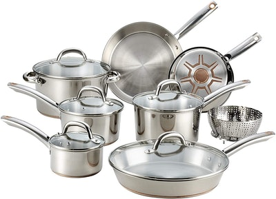 T-Fal Ultimate Stainless Steel Cookware Set (13 Pieces)