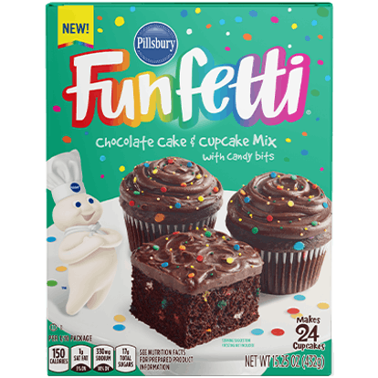 Pillsbury has chocolate funfetti cake mix.