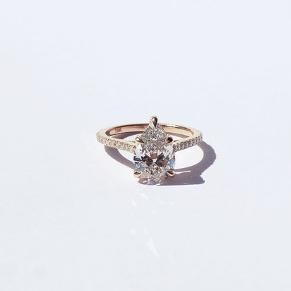 Bespoke Cerré Pear Diamond Ring