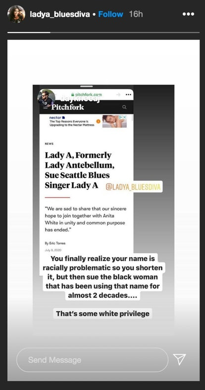 Blues singer Anita White indirectly reacts to Lady Antebellum's lawsuit