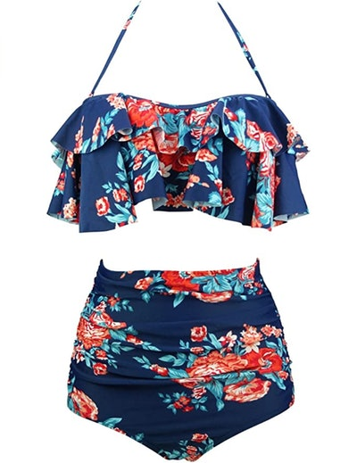 COCOSHIP Flounce High Waist Bikini