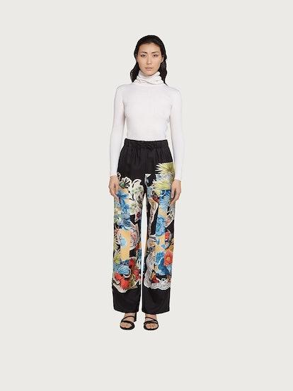 Printed Silk Trouser
