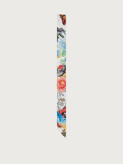 Collage Print Silk Twilly