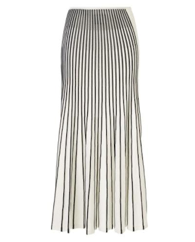 Vani Pleated Striped Skirt