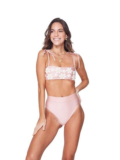 Mafer Pink High Waist Bikini
