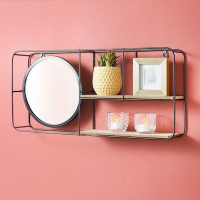 Tromso Mirror Shelf - Black
