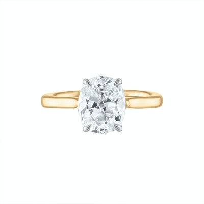 Antique Cushion Brilliant Solitaire Ring