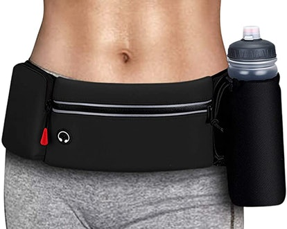 simptech Running Belt Bag with Foldable Water Bottle Holder