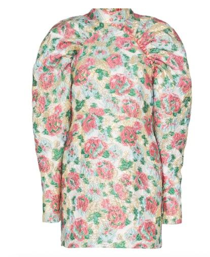 Rose Jacquard Mini Dress
