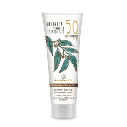 Australian Gold Botanical Sunscreen Tinted Face Mineral Lotion SPF 50 (3 Oz.)