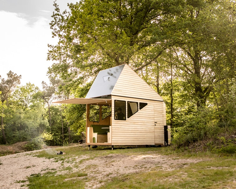 The Haaks Opperland is a camper that can transform into a two-story tiny home.