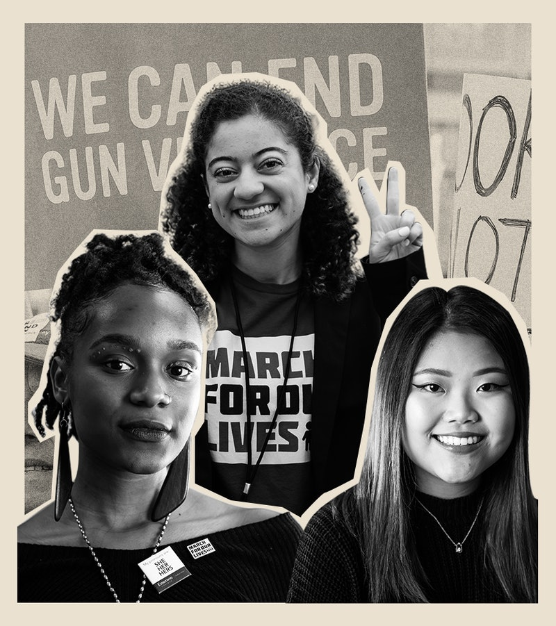 March For Our Lives leaders Bria Smith, Serena Rodrigues, and Kelly Choi