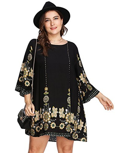 Romwe Plus Size Boho Summer Beach Dress