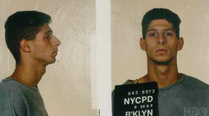 Keith Mondello mug shot in HBO's 'Yusuf Hawkins: Storm Over Brooklyn'