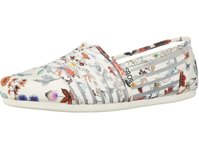 Skechers Women's Bobs Plush-Daisy Darling Floral Slip on