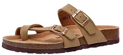 CUSHIONWARE Women's Luna Cork Footbed Sandal