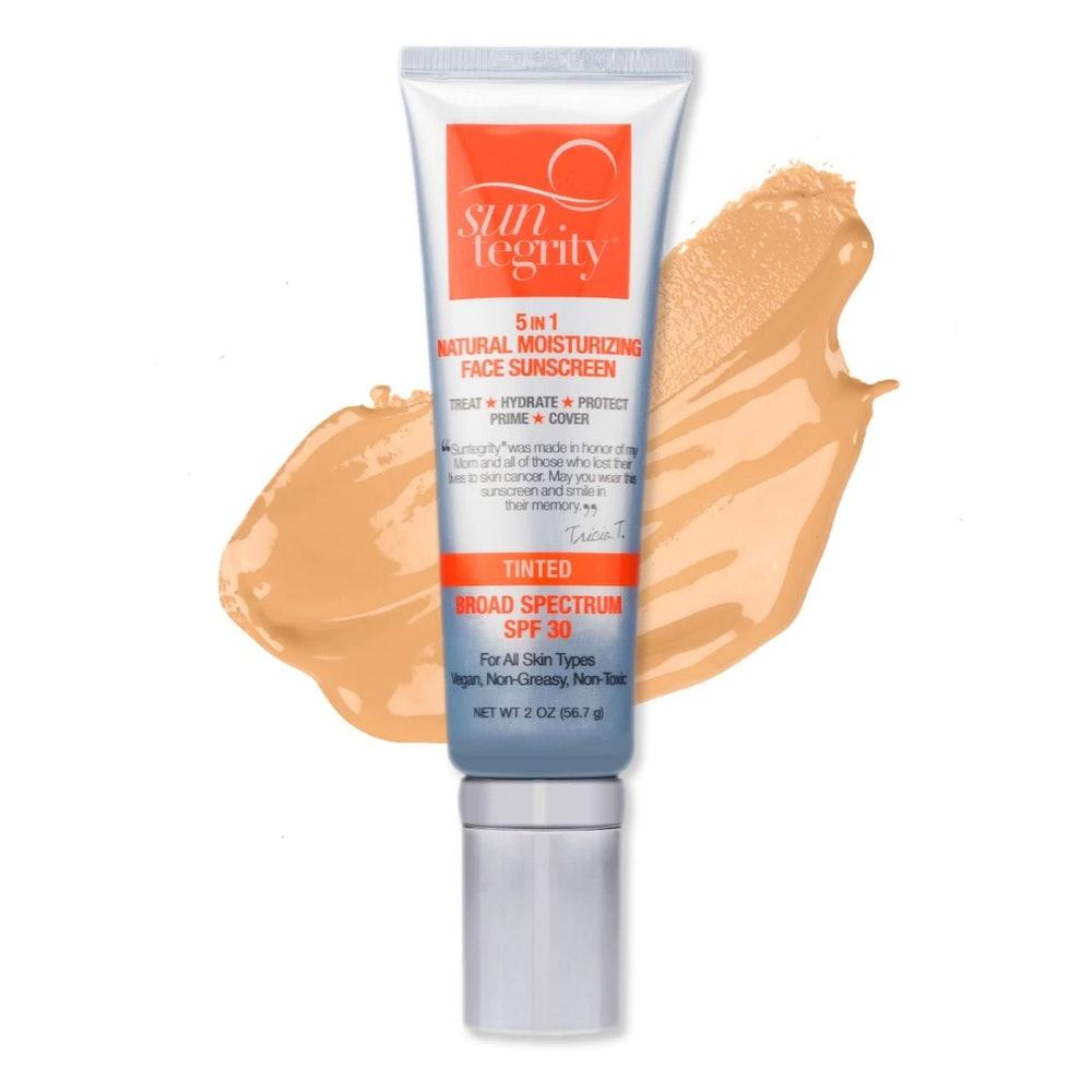 Suntegrity Skincare 5-In-1 Natural Moisturizing Face Sunscreen SPF 30