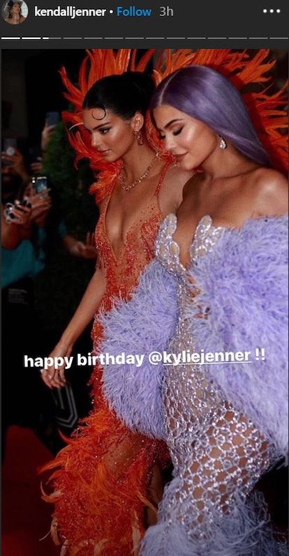 Kendall Jenner posts birthday tribute to Kylie.