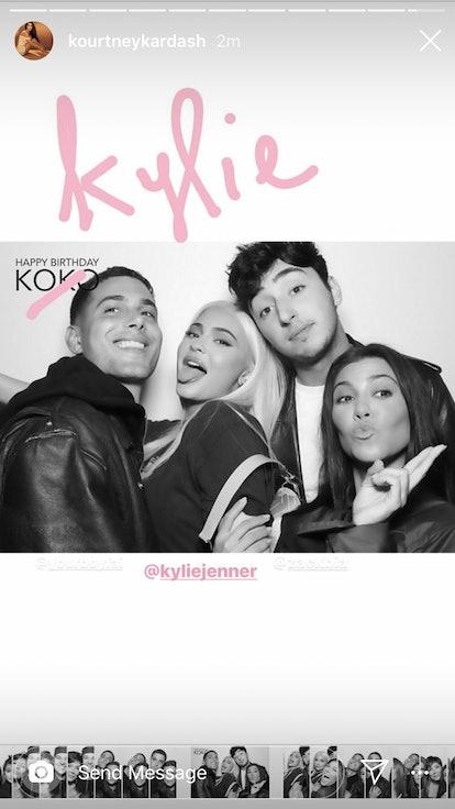 Kourtney Kardashian birthday tribute to Kylie Jenner