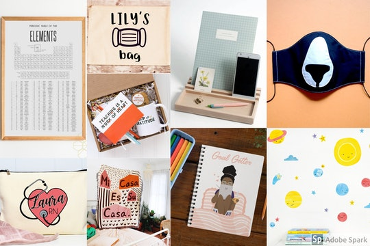 Etsy's 2020 back to school shopping data shows that masks and distance learning decor are trending items.
