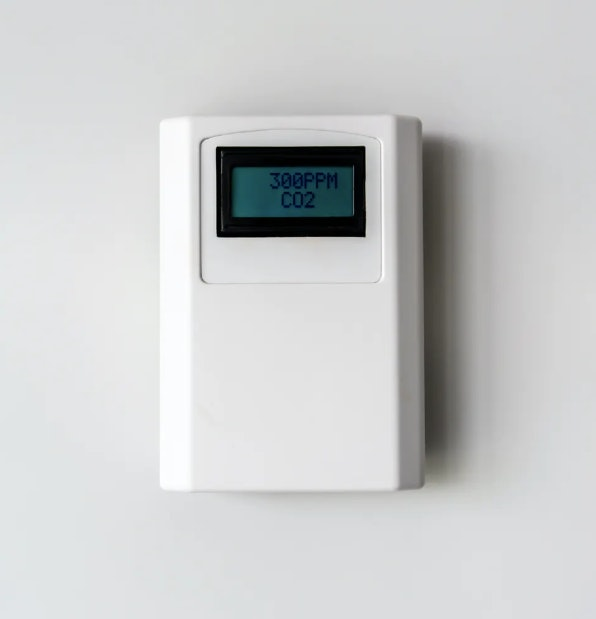 CO2 levels can be used to estimate whether the air in a room is stale and potentially full of partic...