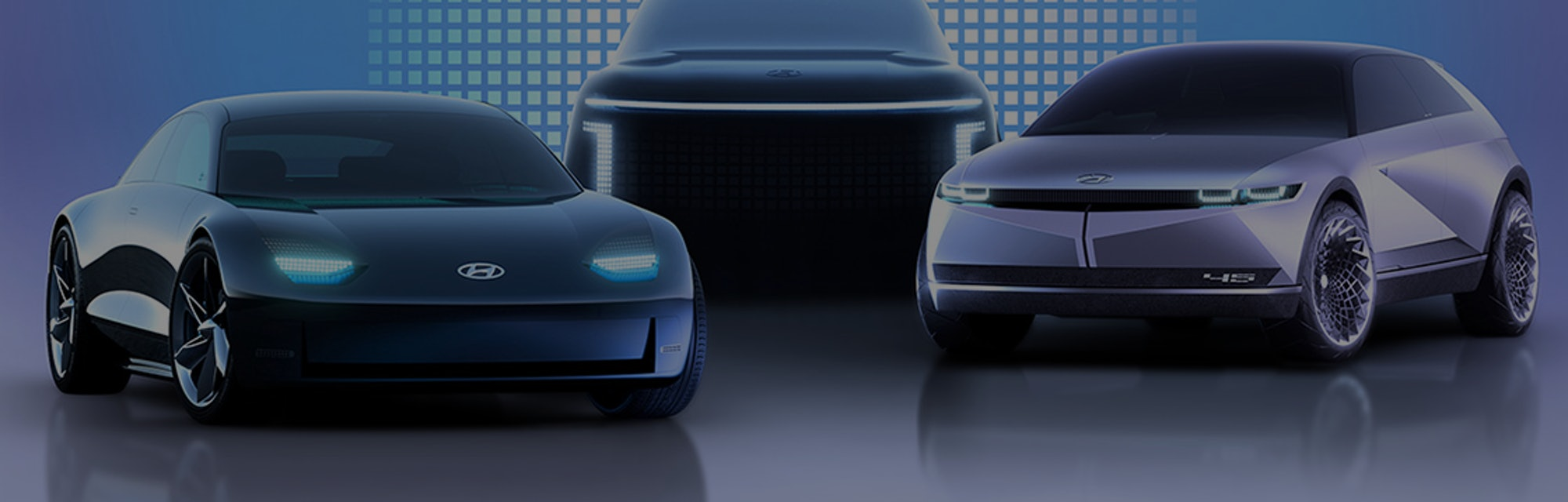 Hyundia's three forthcoming Ioniq electric vehicles.