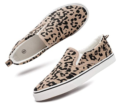 Women's Slip On Shoes Fashion Canvas Sneakers Loafers Casual Shoes