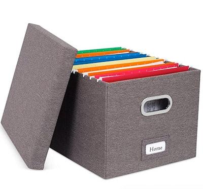 Internet's Best Collapsible File Storage Organizer Storage Boxes
