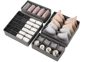 Lesteco Foldable Drawer Organizers (4-Pack)