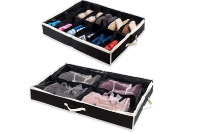 Woffit Under-The-Bed Shoe Organizer (2-Pack)