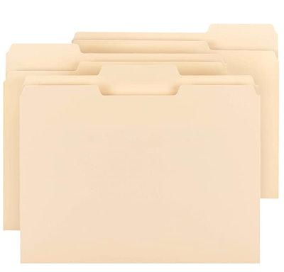 AmazonBasics 1/3 Cut Tab File Folders