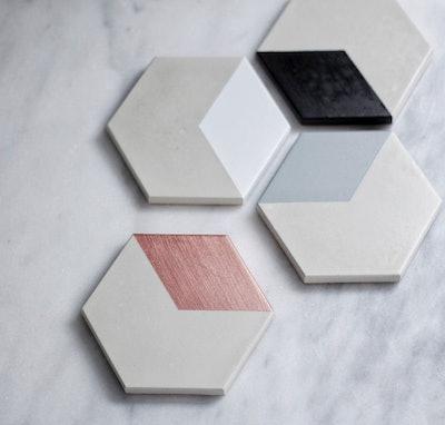 Hexagon Concrete Coasters - Set of Four