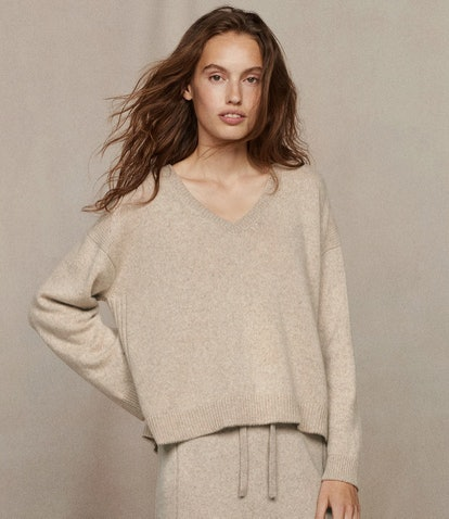 Recycled Cashmere V-Neck Sweater