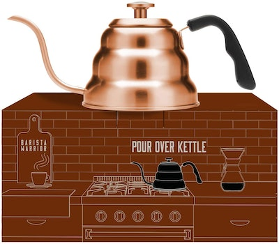 Barista Warrior Pour Over Coffee Kettle With Thermometer