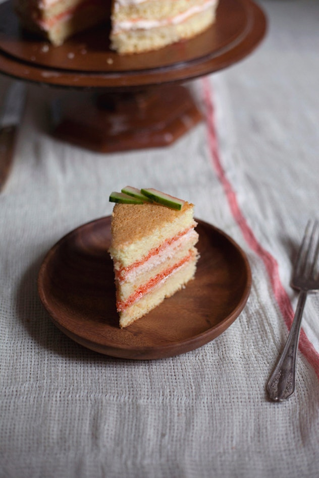 Watermelon sponge cake is one recipe you can make to use up your watermelon.