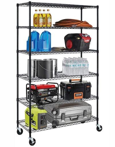 Meet Perfect 6-Tier Heavy-Duty Storage Shelving Unit