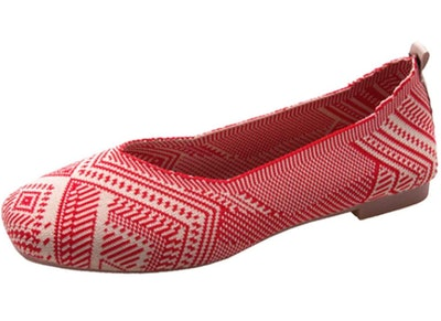 RVROVIC Women Flat Shoes Knitted Lightweight Slip-on Loafers