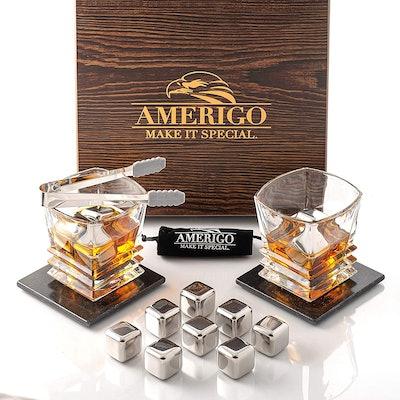 Amerigo Whiskey Stone Set