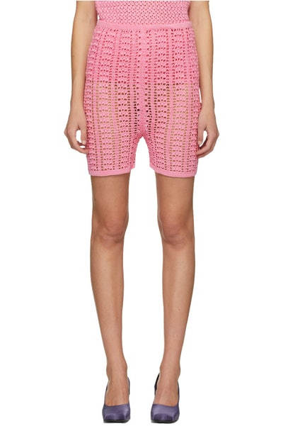 Pink Knitted Shorts