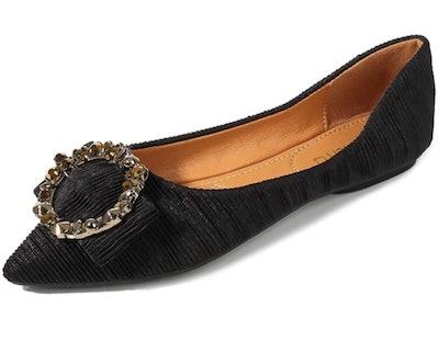 Meeshine Women's Pointy Toe Ballet Flats