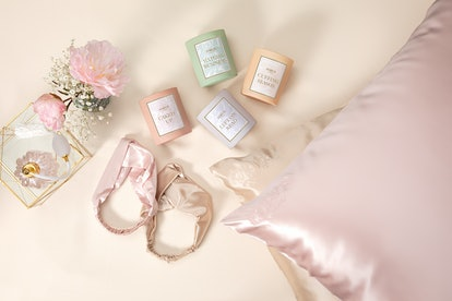 Candles and silk accessories from Jackie Aina's new brand, FORVR Mood.