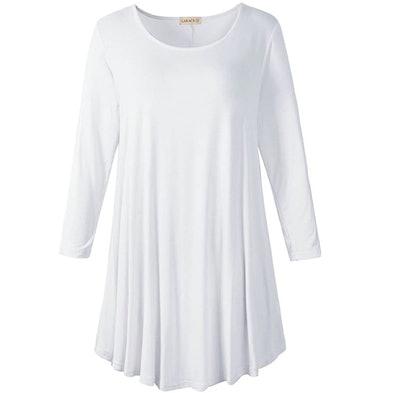 LARACE Women 3/4 Sleeve Tunic Top