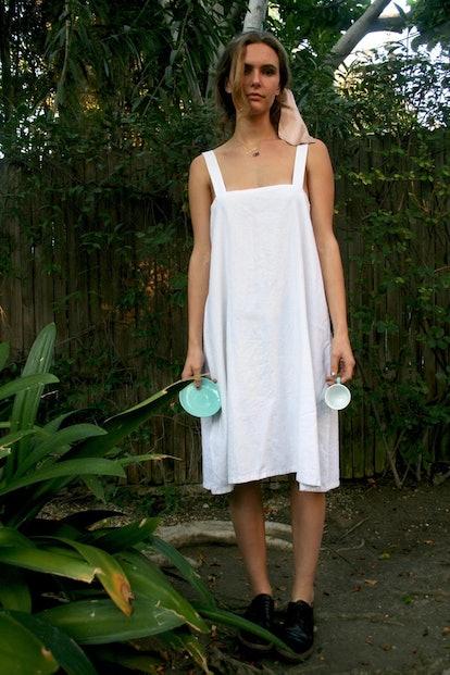 White Linen Pillowcase Gown