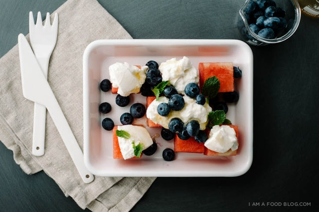 Watermelon Burrata Salad is one recipe to use up your watermelon leftovers this summer.