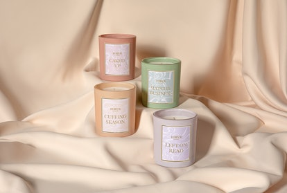 All four candles from Jackie Aina's new brand, FORVR Mood.