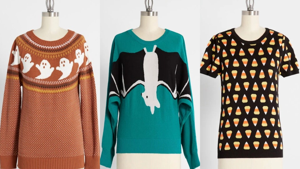 ModCloth's Halloween sweaters will make you scream with delight.