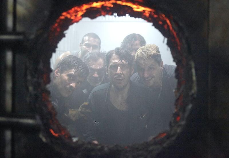 Pedro Suarez, Andres Parra, Rodrigo Jerez, Waldo Urrego, Juan Sebastian Calero in The Great Heist on Netflix via NETFLIX MEDIA CENTER